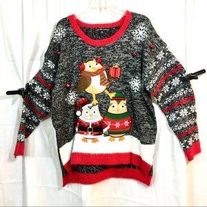 United States Holidays Owl Christmas sweater